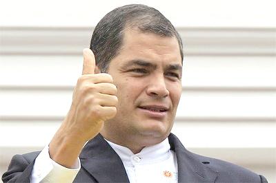 El Presidente de Ecuador, abanderado de los derechoshumanos