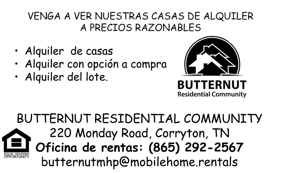 Butternut newspaper ad proof Spanish translation